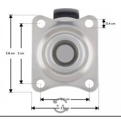 Micro switch con botón negro, de 15 A