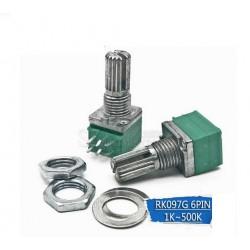RV097G Potenciometro doble audio amplificador