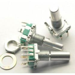 EC11 potenciómetro Digital codificador de Audio rotatorio con interruptor , eje 20mm